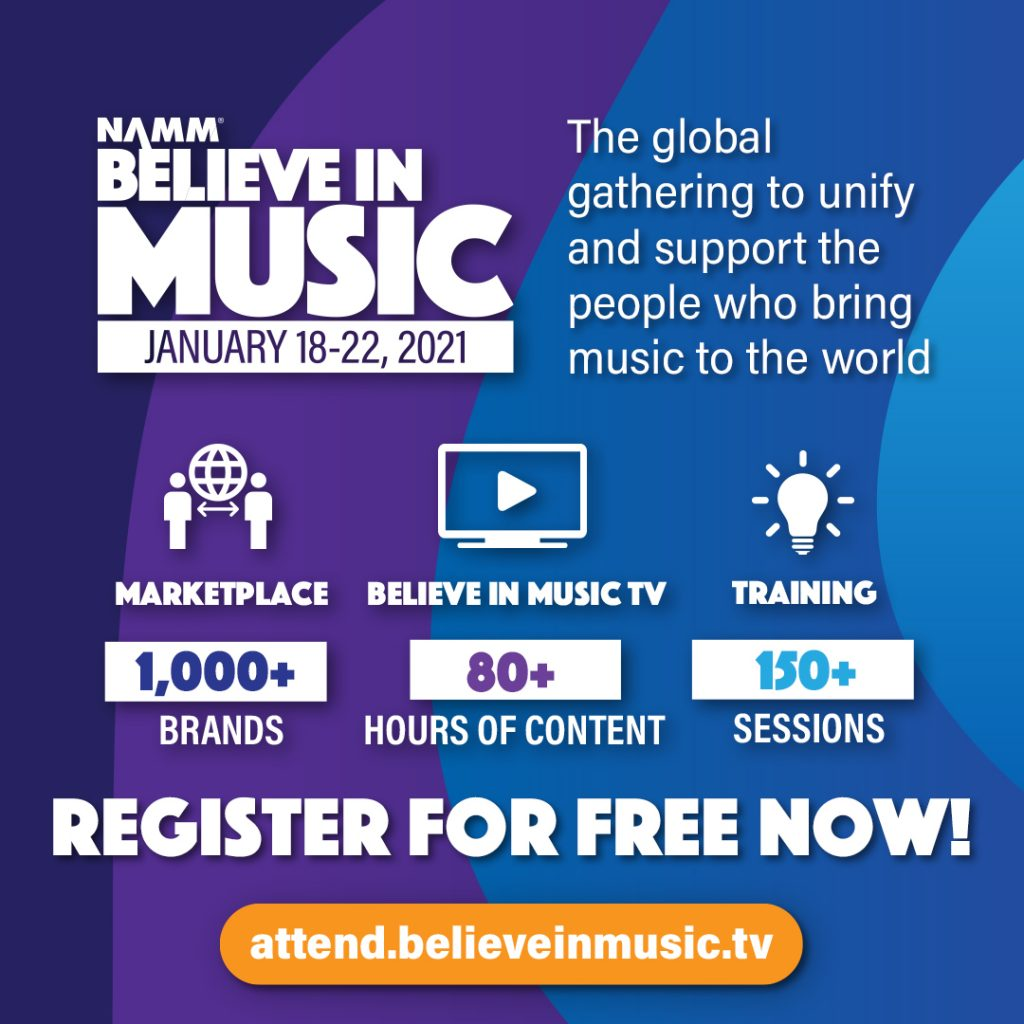NAMM Believe in Music 2021