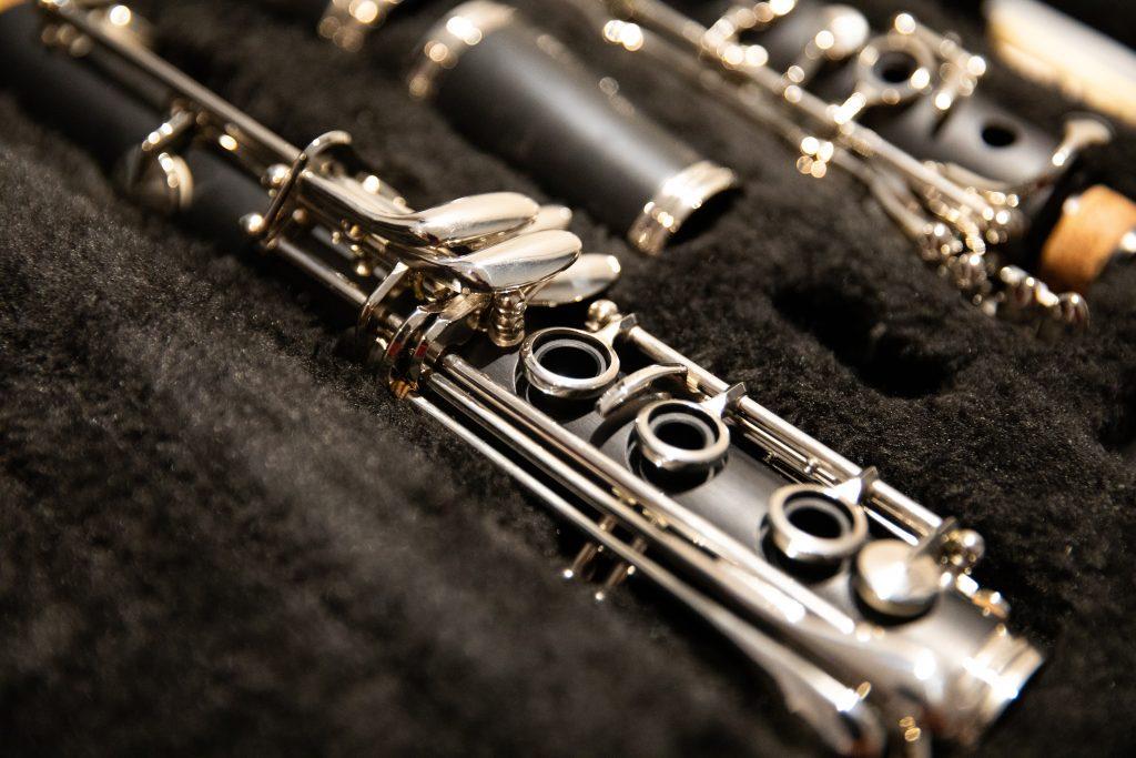 Clarinet inside case